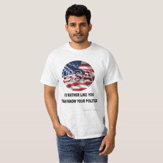Camiseta T-shirt do design do patriota para todos os