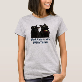 Camiseta T-shirt do dia da apreciação do gato preto