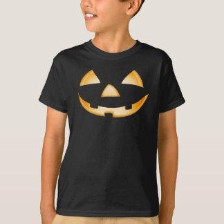 Camiseta T-shirt do Dia das Bruxas da cara da abóbora da