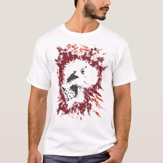 Camiseta T-shirt do Dia das Bruxas do crânio do Splatter da