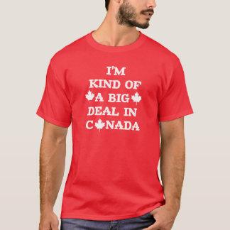 Camiseta T-shirt do dia de Canadá da grande coisa