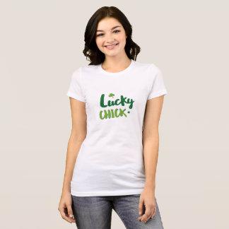 Camiseta T-shirt do dia de St Patrick afortunado do