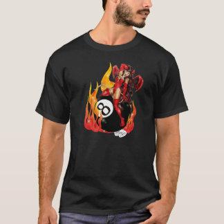 Camiseta T-shirt do diabo de 8 bolas