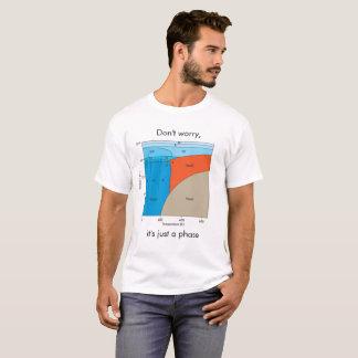 Camiseta T-shirt do diagrama de fase da água