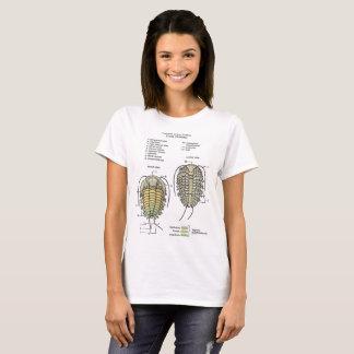 Camiseta T-shirt do diagrama do Trilobite das mulheres