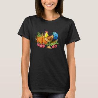 Camiseta T-shirt do divertimento das mulheres da galinha da