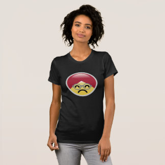 Camiseta T-shirt do Dr. Social Meio Frowning Turbante Emoji