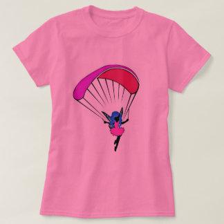 Camiseta t-shirt do duende do parapente