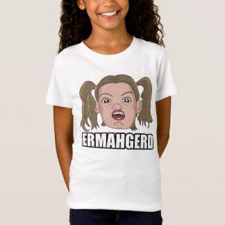 Camiseta T-shirt do Ermahgerd da menina