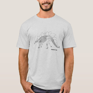 Camiseta T-shirt do esqueleto do Stegosaurus
