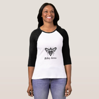 Camiseta T-shirt do estilo do Raglan que anuncia o mel dos