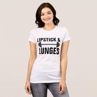Camiseta T-shirt do exercício das senhoras do BATOM & dos