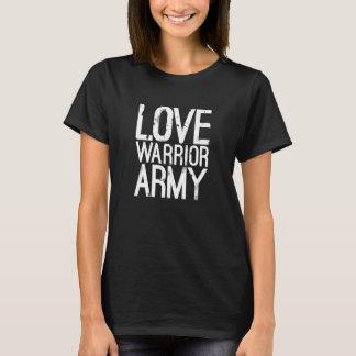 Camiseta T-shirt do exército do guerreiro do amor