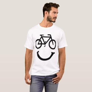 Camiseta T-shirt do fã do ciclismo do smiley face da