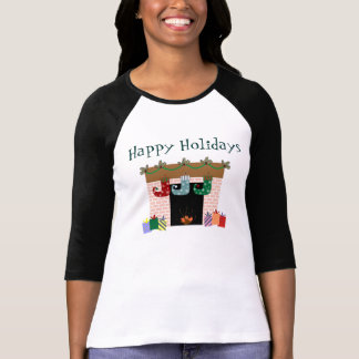 Camiseta T-shirt do feriado das meias da lareira