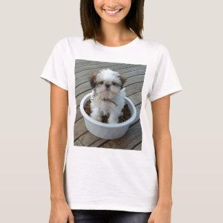 Camiseta T-shirt do filhote de cachorro de Shih Tzu