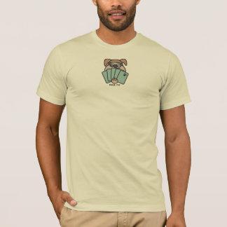 Camiseta T-shirt do filhote de cachorro do póquer