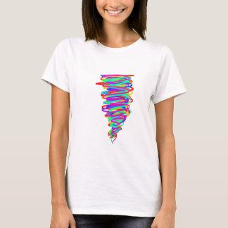 Camiseta T-shirt do furacão do arco-íris