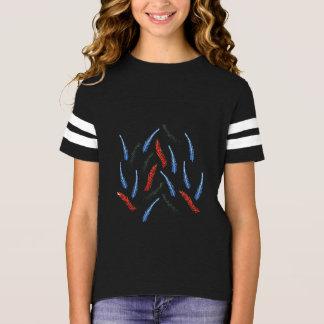 Camiseta T-shirt do futebol das meninas do ramo