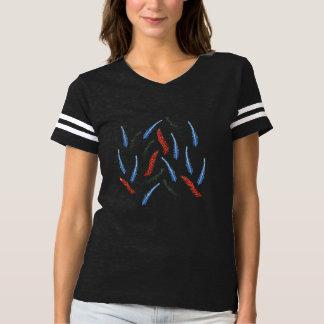 Camiseta T-shirt do futebol das mulheres do ramo