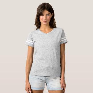 Camiseta T-shirt do futebol das mulheres é sempre cores do