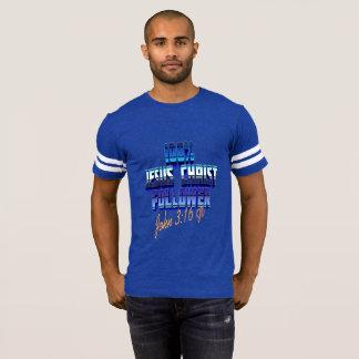 Camiseta T-shirt do futebol dos homens do 3:16 KJV de John