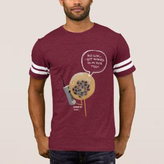 Camiseta T-shirt do futebol dos homens do pudim | do feijão