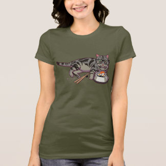 Camiseta T-shirt do gatinho do hipster (sem texto)