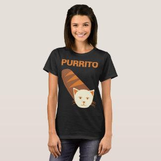 Camiseta T-shirt do gato da novidade do gato de Purrito