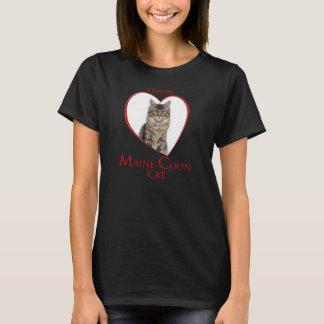 Camiseta T-shirt do gato de racum de Maine