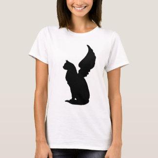 Camiseta T-shirt do gato do anjo