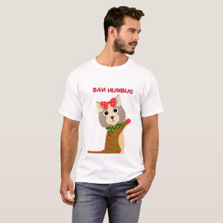 Camiseta T-shirt do gato do Natal dos homens da FARSA de