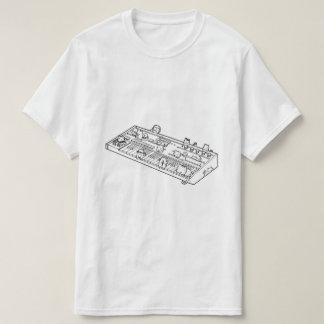 Camiseta T-shirt do gato do teclado (sintetizadores do