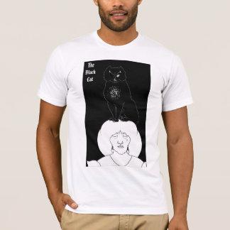 Camiseta T-shirt do gato preto do vintage por Aubrey