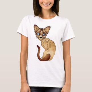 Camiseta T-shirt do gato Siamese