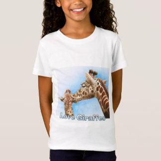 Camiseta T-shirt do girafa e da vitela