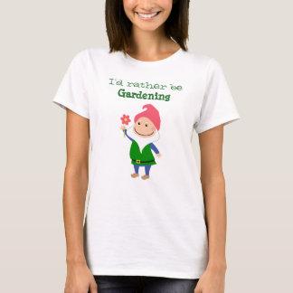 Camiseta T-shirt do gnomo do jardim