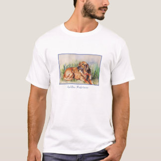 Camiseta T-shirt do golden retriever da aguarela