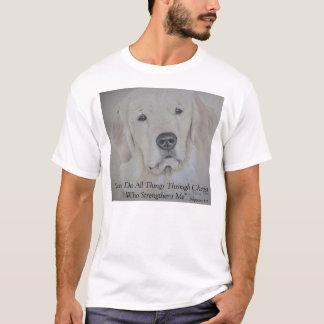 Camiseta T-shirt do golden retriever - religioso