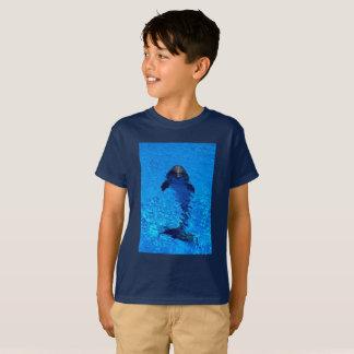 Camiseta T-shirt do golfinho das crianças