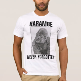 CAMISETA T-SHIRT DO GORILA DE HARAMBE