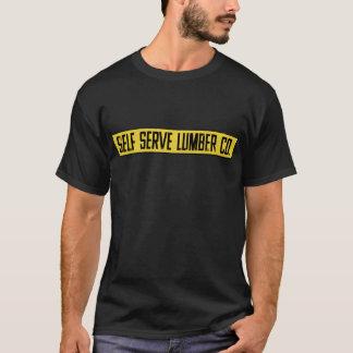 Camiseta T-shirt do gráfico do Co. da madeira serrada do