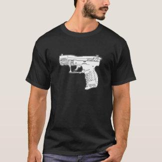 Camiseta t-shirt do gráfico do estêncil da arma de fogo da
