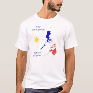Camiseta T-shirt do gráfico do mapa de Filipinas