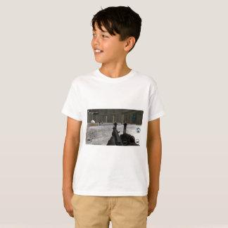 Camiseta T-shirt do Gráfico-Impressão do ataque do zombi,