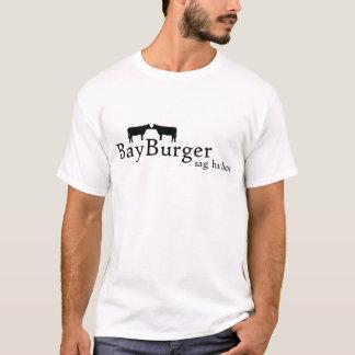 Camiseta T-shirt do hamburguer da baía com sua ordem na