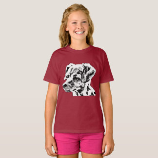 Camiseta T-shirt do Hanes TAGLESS® das meninas da