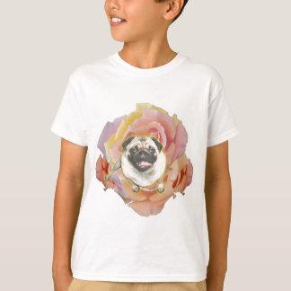 Camiseta T-shirt do Hanes Tagless do miúdo de PugFlower