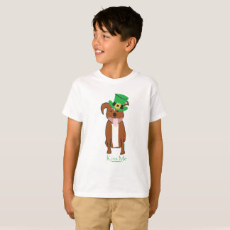 Camiseta T-shirt do Hanes TAGLESS® dos miúdos   afortunados