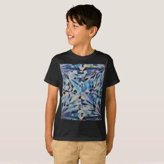 Camiseta T-shirt do Hanes TAGLESS® dos miúdos de vidro do